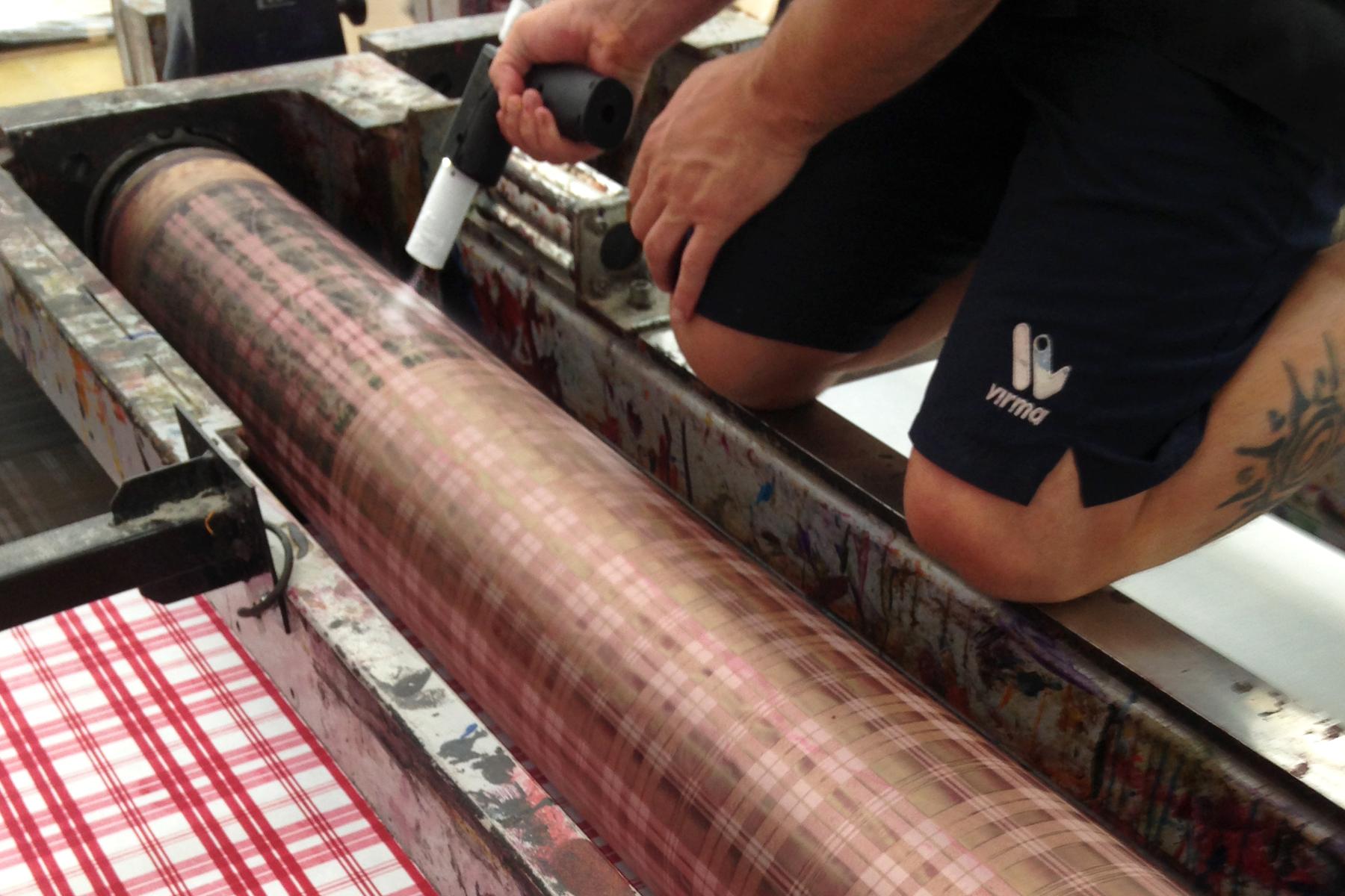 Coolmastern in der Druckindustrie Siebwalze strahlen mit Trockeneis